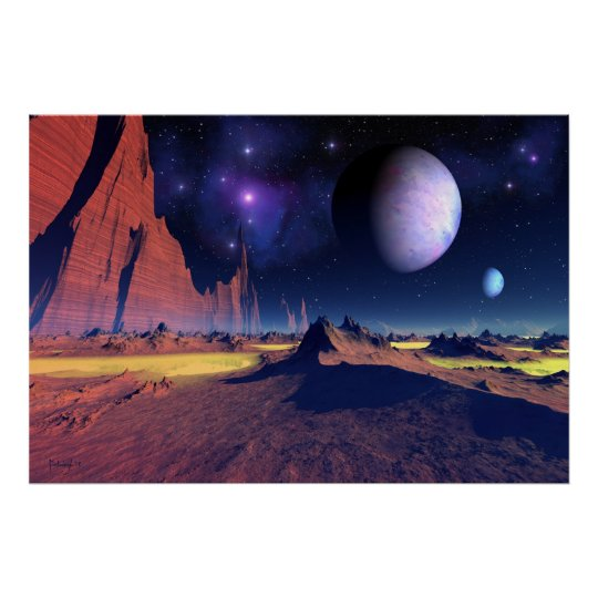 Stellar vista - space art poster