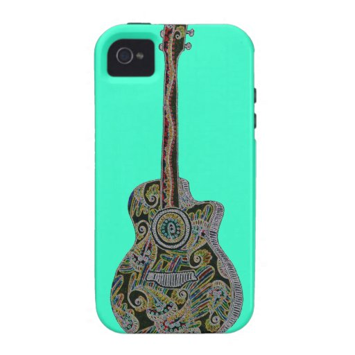StellaRoot 1 Drawn Custom Vintage Guitar iPhone 4 Cover