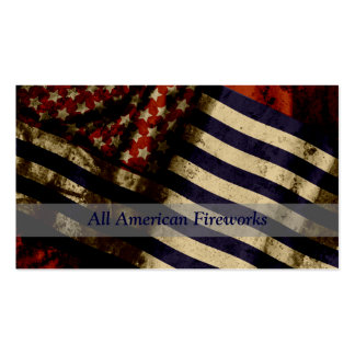 StellaRoot American Flag Fireworks Paintball Card Pack Of Standard Business Cards