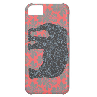 StellaRoot Damask Elephant Vinatge Preppy Cover For iPhone 5C