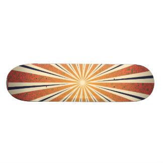 StellaRoot Damask Summer Sun Rays Custom Skateboard