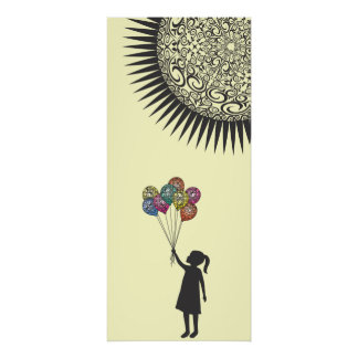 StellaRoot Dreaming Girl Balloons Under the Sun Poster
