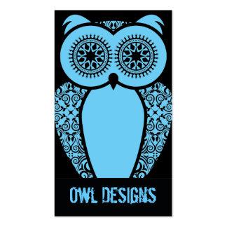 StellaRoot Hootie Owl Business Card on Black