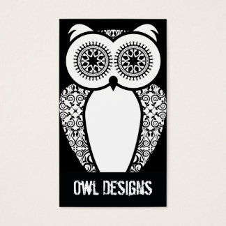 StellaRoot Hootie Owl Business Card on Black