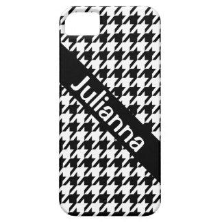 StellaRoot Houndstooth Black Vintage iPhone 5 Cover