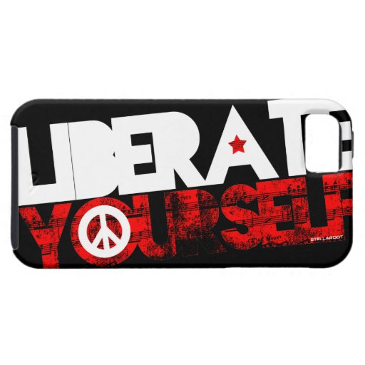 StellaRoot Liberate Yourself Peace Music Election iPhone 5 Covers