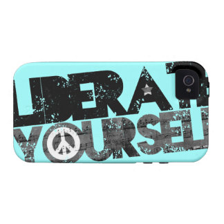 StellaRoot Liberate Yourself Peace Music Election Case-Mate iPhone 4 Cover