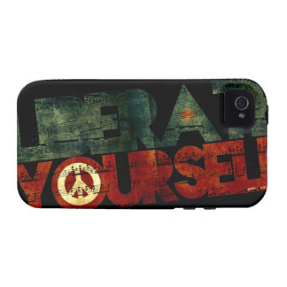 StellaRoot Liberate Yourself Peace Music Election Vibe iPhone 4 Case