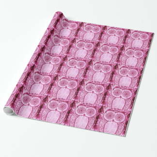 StellaRoot Pink Jeans Hootie Owl Wrapping Paper