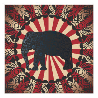 StellaRoot Vintage Circus Elephant Free Mandarin Print