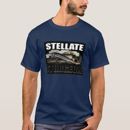 Stellate Sturgeon Collage T - with NAME T-Shirt