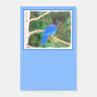 Steller's Jay Painting - Original Bird Art Post-it Notes