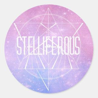 stelliferous round sticker