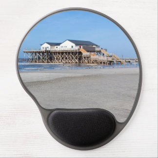 Stelzenhaus at the beach by St. Peter Ording Gel Mouse Pad