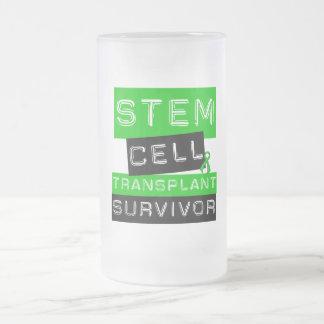 Stem Cell Transplant Survivor Label Frosted Glass Mug