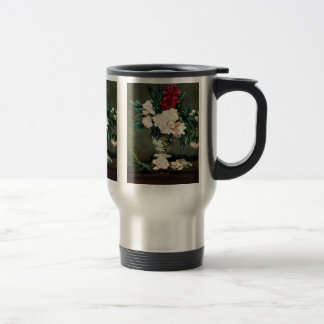 Stem Vase Life With Peonies By Manet Edouard Mugs