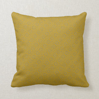 Stencil Design Mustard Pillow
