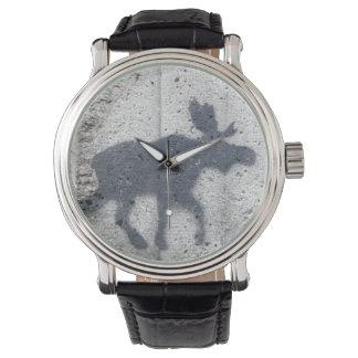 Stencil Graffiti Moose Watch