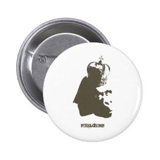 Stencil King Ape Button