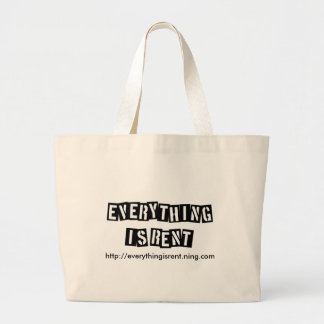 Stencil Letters Tote Jumbo Tote Bag
