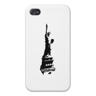 Stencil Liberty Black iPhone 4/4S Cover