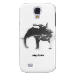 Stencil Spray Elephant Galaxy S4 Case