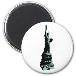 Stencil Statue Liberty Green Refrigerator Magnets
