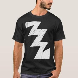 Stenciled ZigZag - White T-Shirt