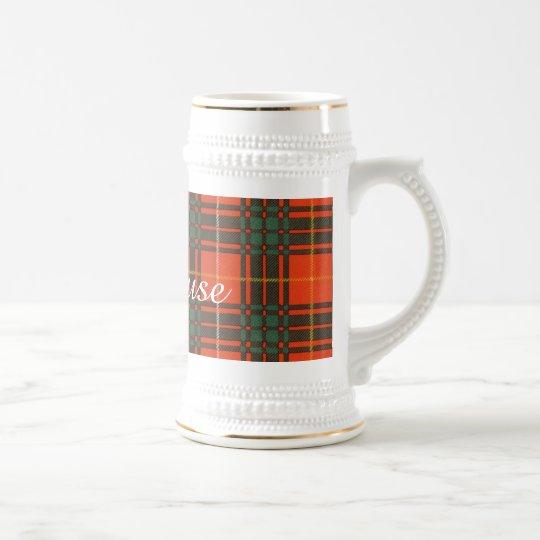 Stenhouse Family Clan Plaid Scottish Kilt Tartan Beer
