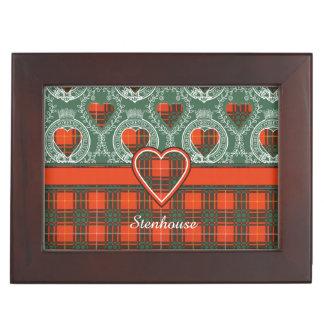 Stenhouse family clan Plaid Scottish kilt tartan Keepsake Box