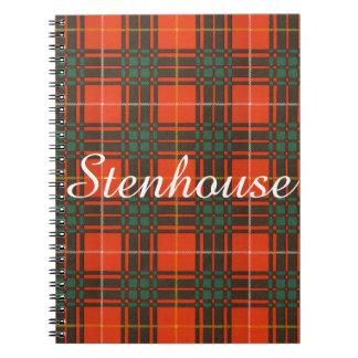 Stenhouse family clan Plaid Scottish kilt tartan Notebook