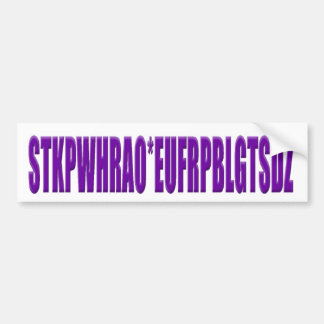 Steno Keyboard Letters Bumper Sticker