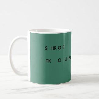 Steno SLOW DOWN 11 oz mug (green) SHROE TKOUPB