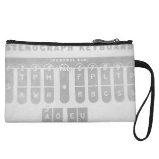 Stenograph Keyboard Clutch Wristlet