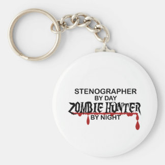 Stenographer Zombie Hunter Keychains