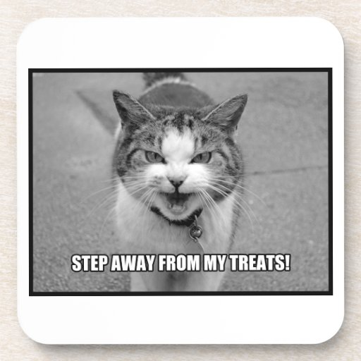 Step Away From My Treats Drink Coaster