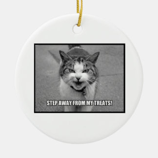 Step Away From My Treats Christmas Ornaments