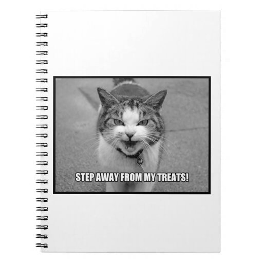 Step Away From My Treats Spiral Notebooks
