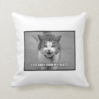 Step Away From My Treats Throw Pillow
