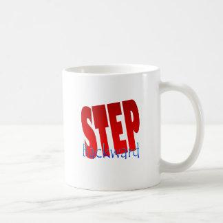 step backward coffee mug