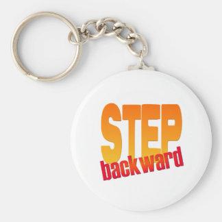 step backward key chains