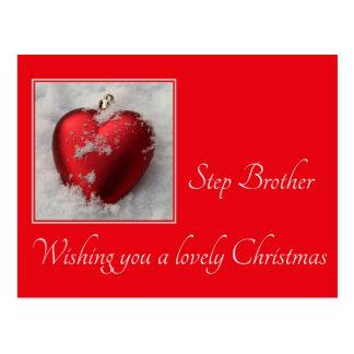 Step Brother  Merry Christmas card Postcard