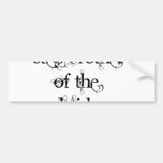 Step Brother of the Bride Bumper Sticker