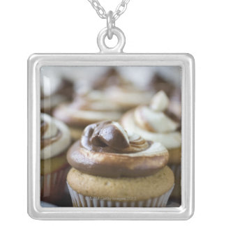 Step by step photos of peanut butter cupcakes silver plated necklace