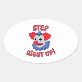 Step Clown Oval Sticker