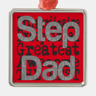 Step Dad Extraordinaire Silver-Colored Square Decoration