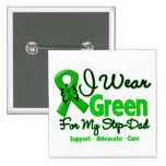 Step Dad - Green  Awareness Ribbon Buttons