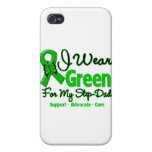 Step Dad - Green Awareness Ribbon iPhone 4 Cover