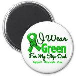 Step Dad - Green  Awareness Ribbon Magnets
