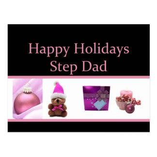 Step Dad Merry Christmas card Postcard